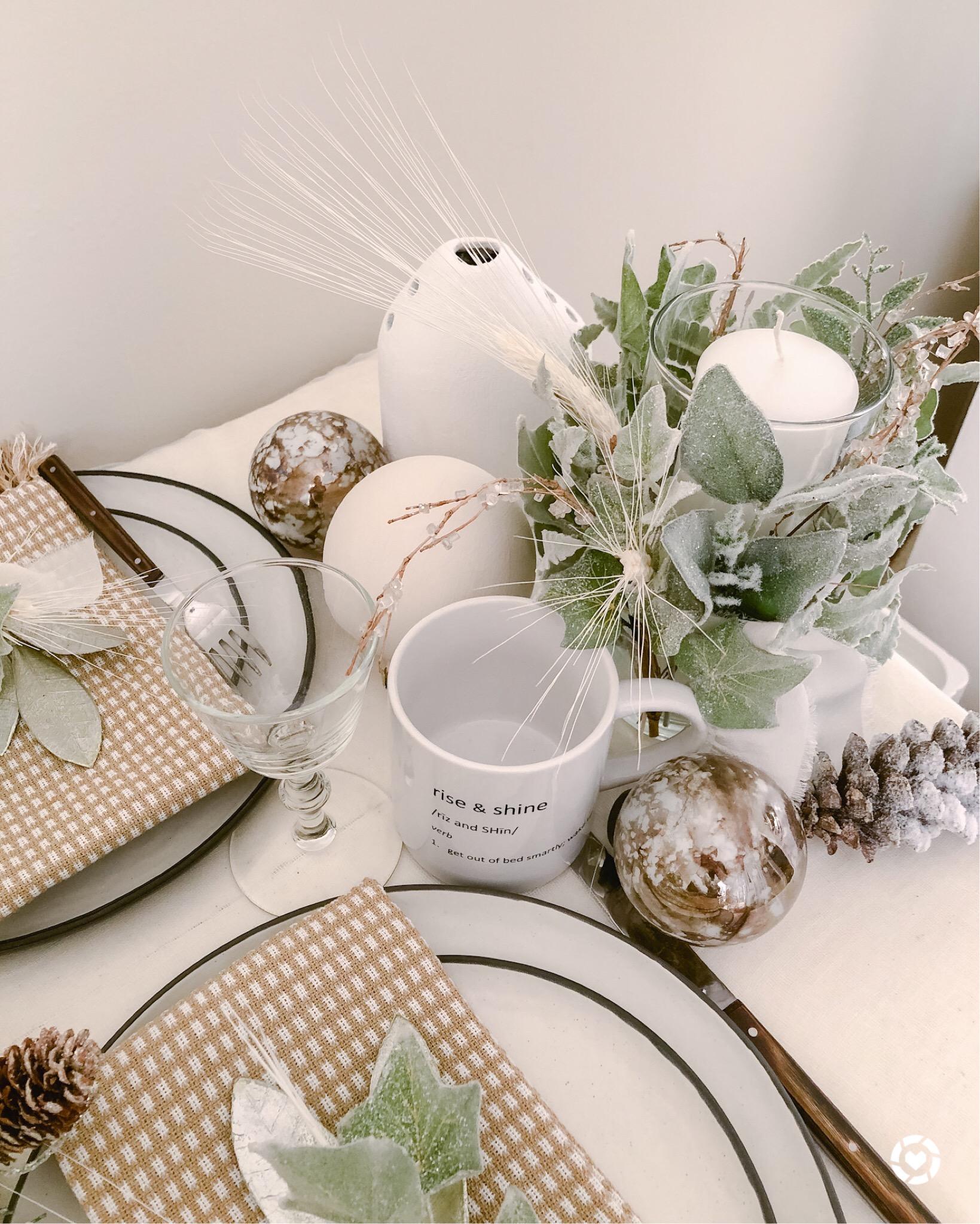 Table Decor Winter Wonderland Olive And Gene